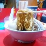 ラーメン風林火山 - ラーメン風林火山@鶴岡本店 味玉ラーメンの麺
