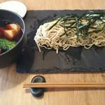 星ノ灯 - トロトロ豚角煮と青菜のつけ蕎麦 1200円