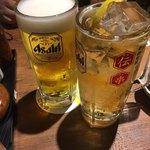伝説の串 新時代  - ビールとハイボール