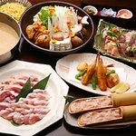朝引き鶏と焼酎 ぼっけもん - 霧島鍋コース