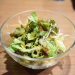 札幌ドミニカ - 【特選野菜カリー+ハンバーグ@税込1,400円】サラダ