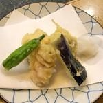 三進 - 穴子天ぷらと白身魚の昆布〆定食1,188円