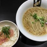 超純水採麺 天国屋 - 2018/7/29限定・金目鯛麺(丼付)(1000円)