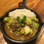 野菜を食べるカレーcamp - キャベツと牛肉の回鍋肉カレー