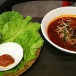 やきにく HYAKURAN - 肉巻き野菜とマーラー冷麺