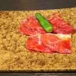 やきにく HYAKURAN - マーラー冷麺セットの肉