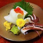 すしや 黒門町 - 料理写真:烏賊のお刺身