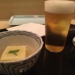 清壽 - 瓶ビールと前菜