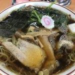 青島食堂 - 青島チャーシュー大盛(¥950)+ほうれん草¥100増