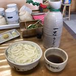 釜揚うどん一忠 - 釜揚げうどん大(680円)
