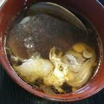 中華食堂 くろ - チャーハンのスープ