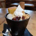 カフェ オトワ - 黒蜜きなこパフェ