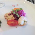 レストラン タガミ - 料理写真:前菜①蛸やむきエビのマリネ タプナードと