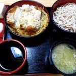 八大黒そば - 料理写真:Bセット(かつ丼+もりそば)!
