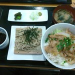 90040434 - 生姜焼丼とミニそばセット