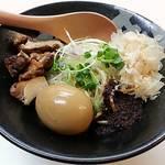 ぼっこ志 - 【旨辛TORI和え麺 + 煮玉子】¥750 + ¥100