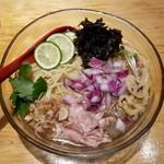 90043452 - 秋刀魚と鮪の冷しそば(夏季限定)