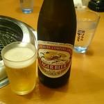 お肉屋さんの焼肉 まるやす - 瓶ビール518円