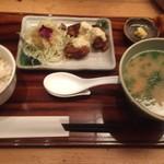 Gaienumaya - チキン南蛮とさつま汁定食1150円