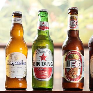 美味しい食事のお供には美味しいお酒を!海外ビールも豊富です!