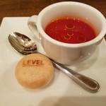 LEVEL - スイカとトマトのスープ&モナカ