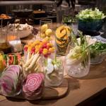 VEGGITAINMENT BUFFET TABLE  -Organic Salad & Deli-