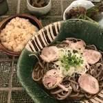 90055181 - 肉そばと鶏出汁ご飯