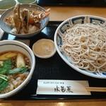 水芭蕉 - 料理写真:つけそば、ミニ天丼