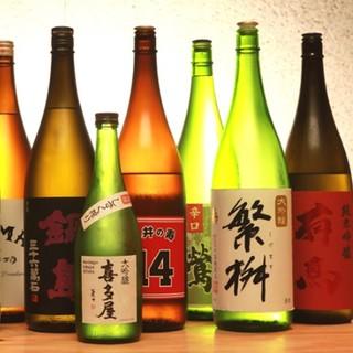 九州のこだわりの日本酒をご用意しております。
