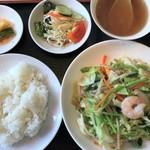 銀龍閣 - 料理写真:野菜炒め+定食(野菜炒め 800円+100円)