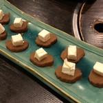 オールナイト 焼鳥 戸高 - いぶりがっこクリームチーズ 380円