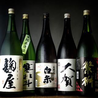 こだわりの日本酒や焼酎♪