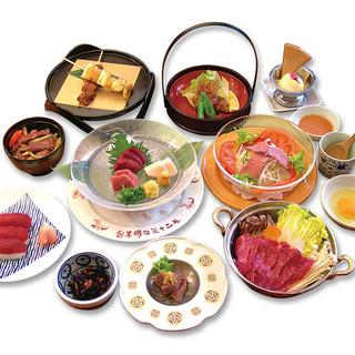 色々な食べ方でお召し上がりください◆馬肉づくしのコース料理!