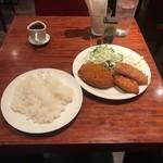 はれたりくもったり - メンチ&ハムカツ定食(890円)