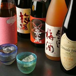 バラエティ豊かに、個性的な梅酒がなんと50種類以上!!