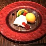 Ristorante Orobianco - 自家製パンナコッタとマンゴーパッションのソルベ添え
