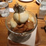 和カフェ yusoshi chano-ma - 黒蜜ときなこのパフェ