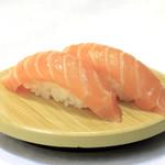 グルメ廻転寿司  まぐろ問屋 めぐみ水産 - 生サーモン