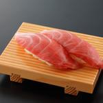 グルメ廻転寿司  まぐろ問屋 めぐみ水産 - 本まぐろ頭身の大トロ