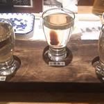 すし居酒屋 日本海 - 地酒飲み比べ820円