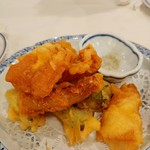 洋食勝井 - 穴子と野菜の天ぷら