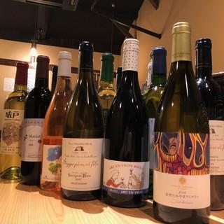 信州のワインが豊富
