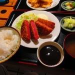 万福食堂 - 厚切りハム定食 810円