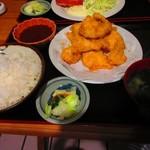 万福食堂 - 鶏天定食 734円
