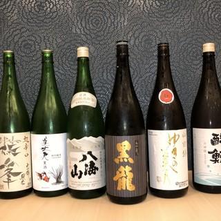 季節に合わせた厳選した日本酒をご提供