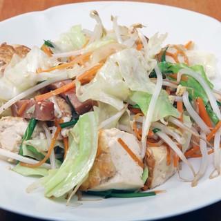 大人気の「豆腐チャンプルー」