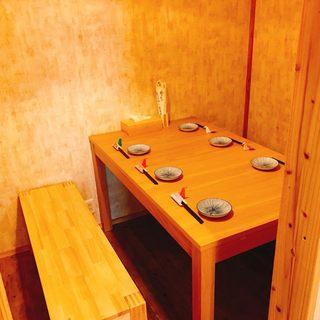【少人数個室】個室完備の嬉しいスペース