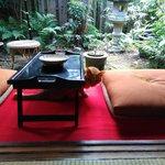 京都生ショコラ オーガニックティーハウス - ミャウミャウが可愛い。