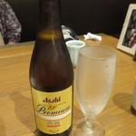 百膳 - 瓶ビール(アサヒプレミア熟撰)@780円(税抜き)