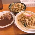 90092938 - 濃厚タンメン野菜増し+カレーセット